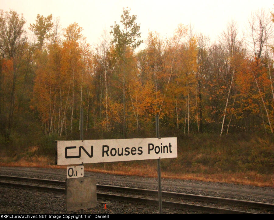 CN Rouses Point sign